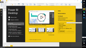 Así se presenta el interfaz de PowerBI desktop un look and feel totalmente Office.